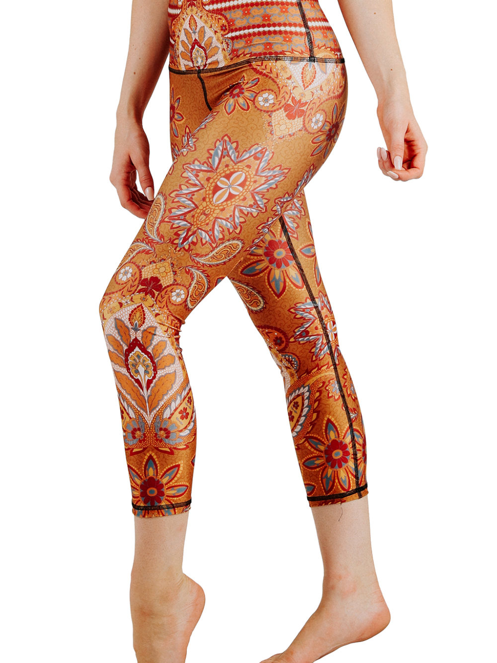 leggings paisley yoga democracy